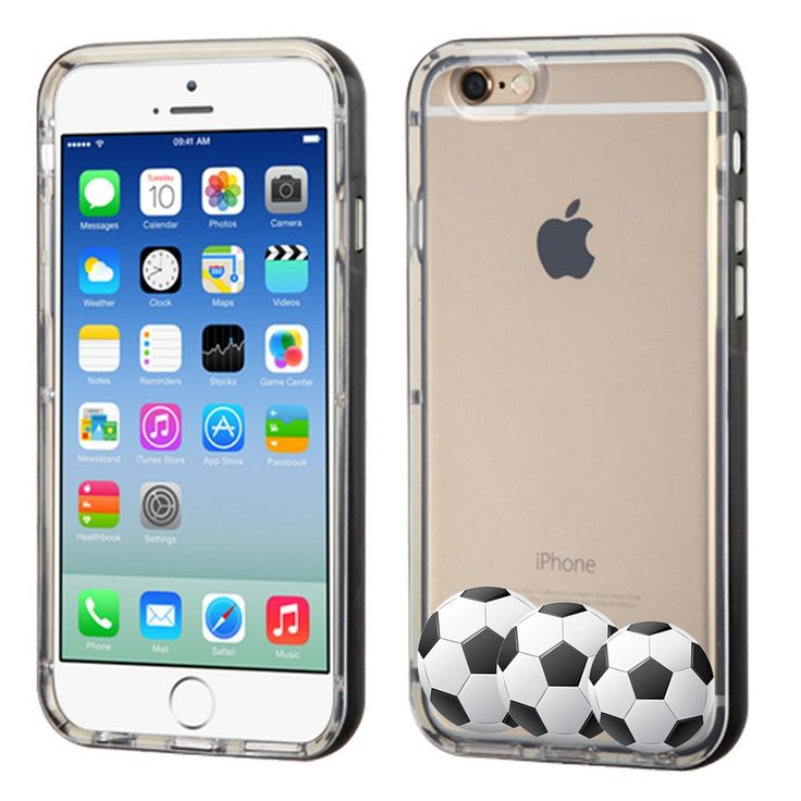 Fit iPhone 6 / 6s, One Tough Shield ® SLIM-FIT Transparent Flexible TPU Phone Case (Black Bezel) for Apple iPhone 6 / 6s - (Soccer). Compatible with: Apple iPhone 6 / 6s (4.7 inch Screen Size). Made of highly durable TPU (Thermoplastic Polyurethane) plastic material. Prevent dust and scratches. Flexible texture Surface. Grip-Friendly. No tool is required for installation. Full ports access for camera lens/buttons/charging. Phone is Not Included.