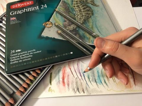 Derwent Graphitint Demonstration and Review Tinted Graphite Pencils - YouTube