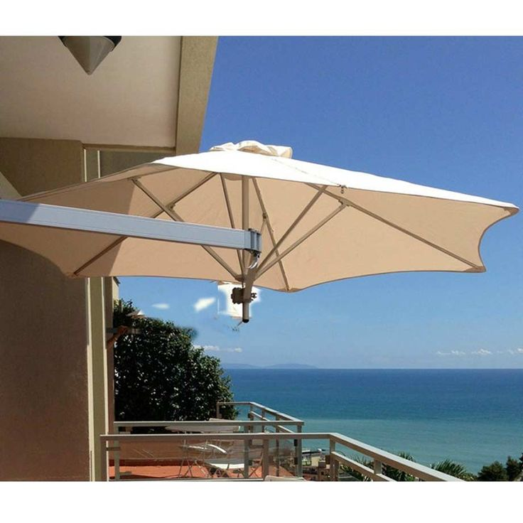 Instant Shade Paraflex Evolution Wall Mount 2.7m Hexagonal Umbrella perfect where space is limited. Attaches to your wall and provides great shade option. $899