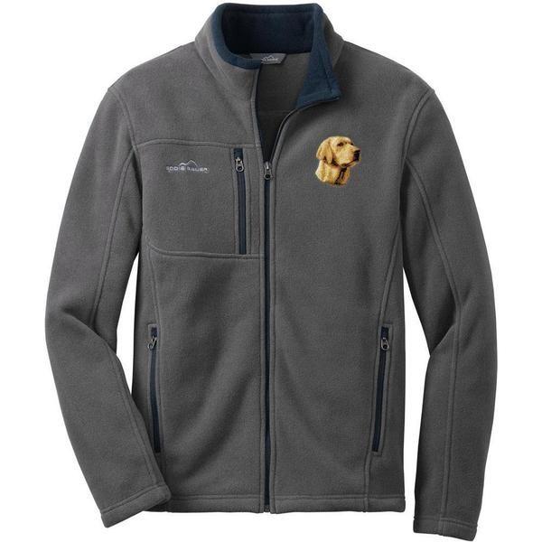 Labrador Retriever Embroidered Mens Fleece Jackets