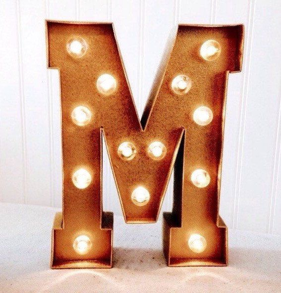Marquee Light Up Letter Decor Handmade Marquee Letter