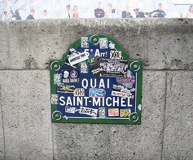 Le quai Saint-Michel  (Paris 75005)