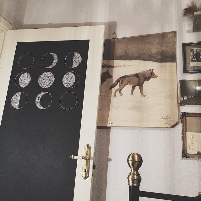Gave the door to my bedroom a much needed makeover.
