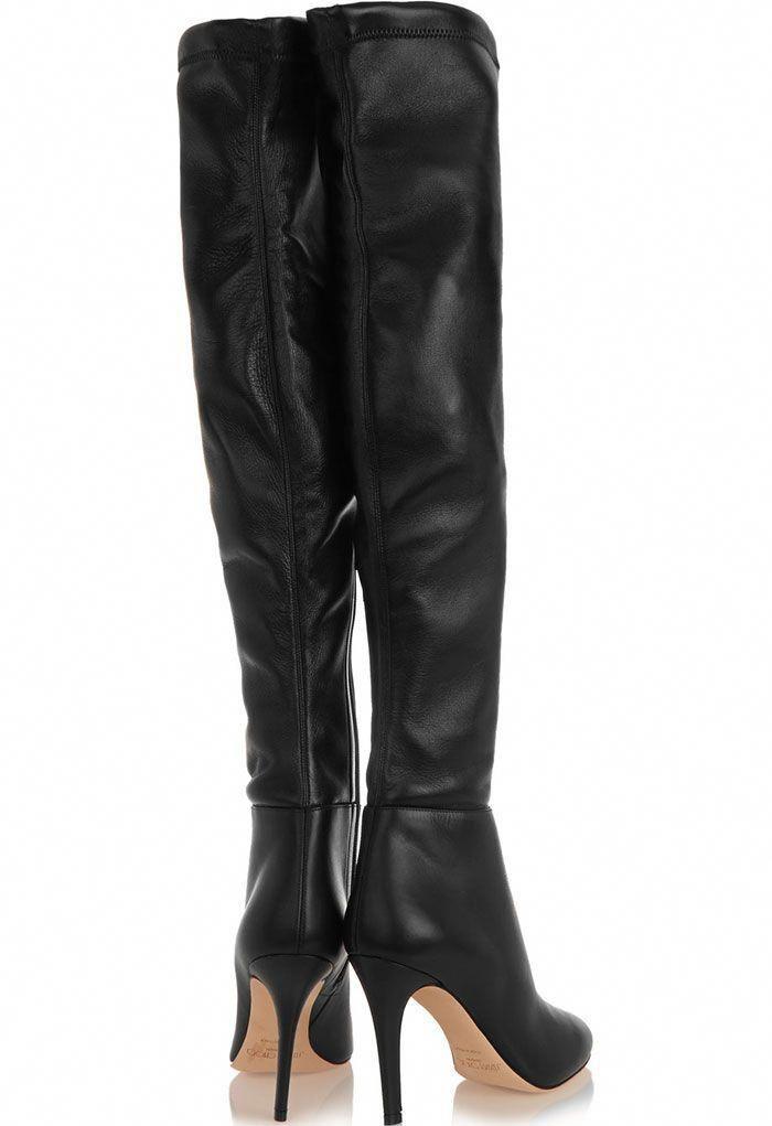"0c8640e705c Jimmy Choo ""Toni"" Stretch-Leather Over-the-Knee Boots  JimmyChoo ..."