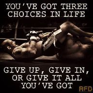 You've got 3 choices in life...give up, give in, or give it all you've got. Come and give it all you've got at quantummartialarts.com.au. #martialarts