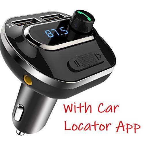 Veedee Bluetooth Fm Transmitter T19 Radio Adapter Bluetooth Car Kit 5v 3 1a Dual Usb Ports Car Bluetooth Bluetooth Car Kit Handsfree
