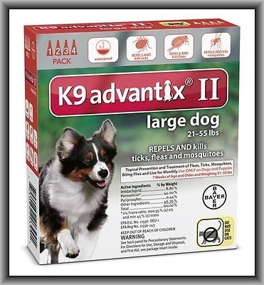 Flea and Tick Remedies 20749: Bayer K9 Advantix Ii Flea And Tick Treatment For Large Dogs 21-55 Lbs 4 Months -> BUY IT NOW ONLY: $55.98 on eBay!