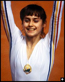 Nadia Comaneci....watching her in the Olympics