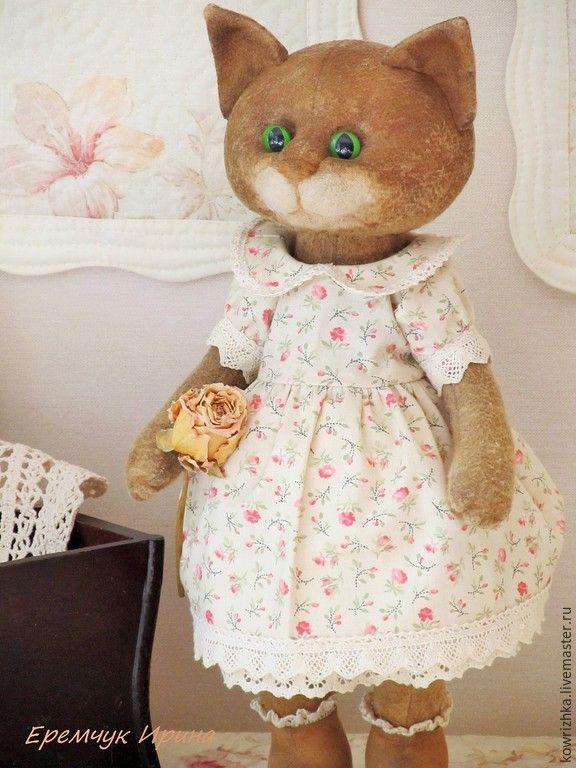 Купить Кошечка Белль - кошка, Кошки, кошка тедди, кошка в платье, коллекционные куклы