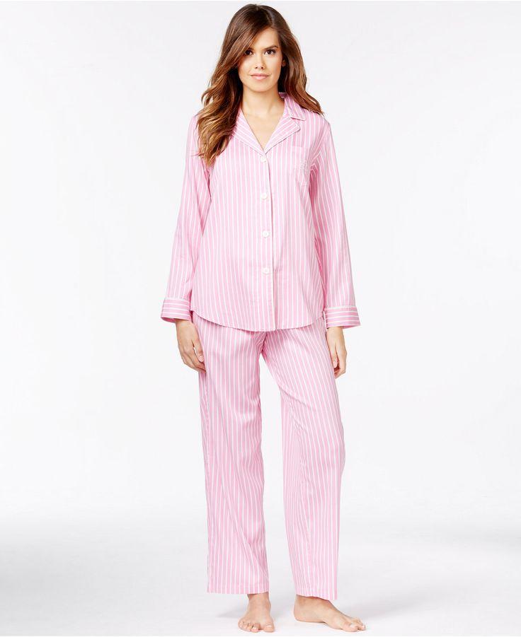 Lauren Ralph Lauren Petite Notch Collar Top and Pajama Pants Set - Petite Pajamas & Robes - Women - Macy's