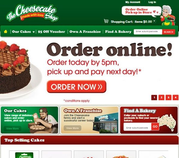 Using the easy store locator features, users can quickly find the nearest Cheesecake shop by entering a suburb or postcode; or by selecting a state or territory. Exa has built a complete online presence for The Cheesecake Shop with product management, shopping cart, membership management and social media integration. With its all-inclusive website, The Cheesecake Shop is experiencing great benefits of online marketing and has achieved high ROI.