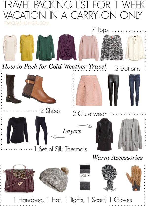 How to Pack for Cold Weather in a Carry-on Only