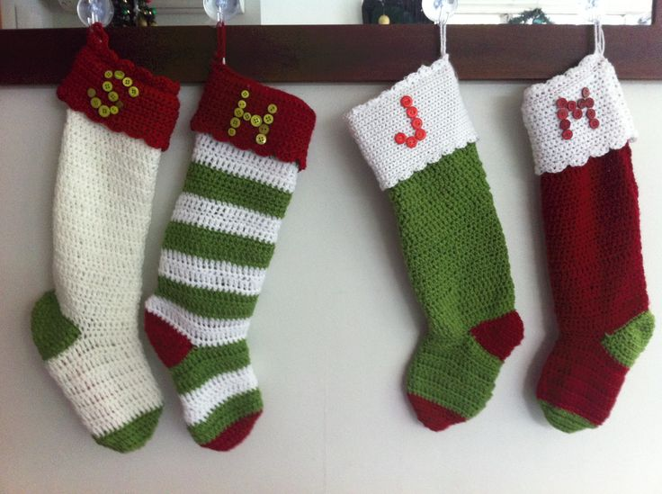 Crochet Xmas Stocking : Crochet Christmas stockings Crochet Pinterest