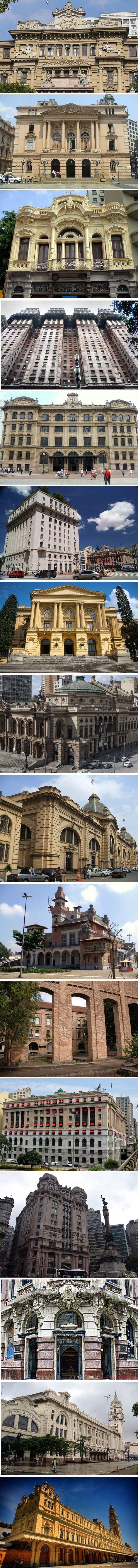 Historic Buildings of São Paulo, Brazil / Prédios Históricos de São Paulo, Brasil