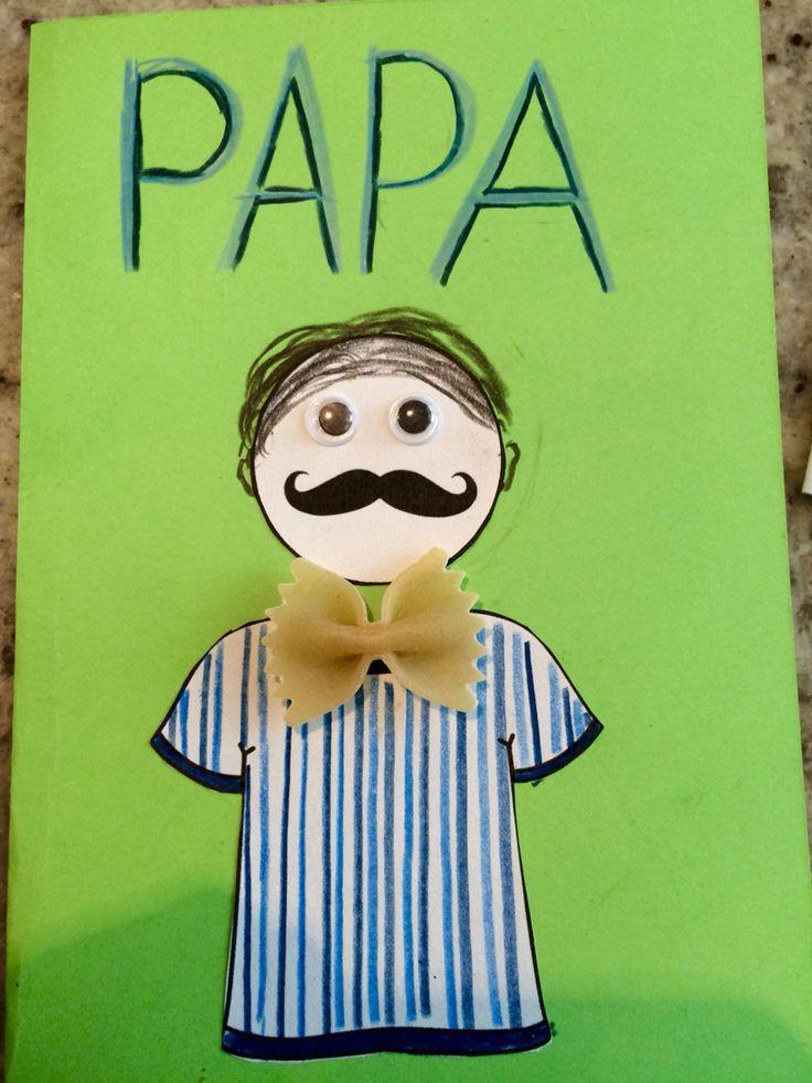 Carte de la fête des pères (super facile, réalisée avec des cocos du présco)