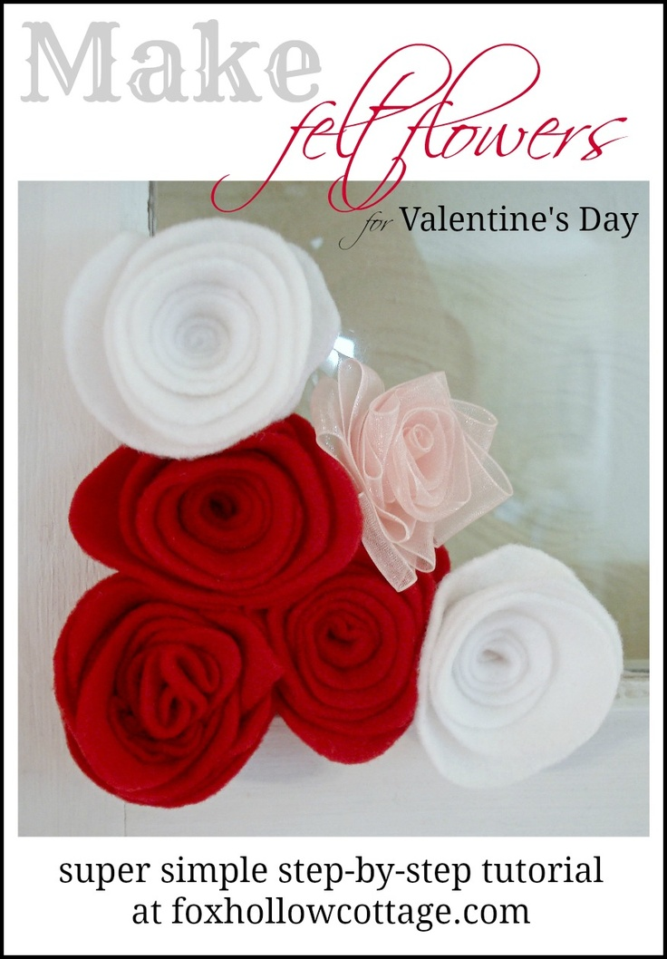 #Valentine's Felt Flower Tutorial | DIY craft |