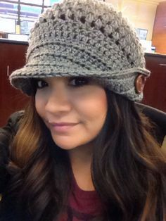 Crochet hat   www.etsy.com/listing/178486026/the-elisa-brimmed-hat-pattern-only