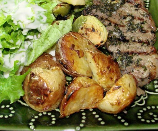 Roast Beef With New Potatoes And Shallots Recipe — Dishmaps