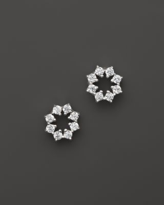 Small Diamond Stud Earrings in 14K White Gold , .14 ct. t.w. - 100% Exclusive | Bloomingdale's