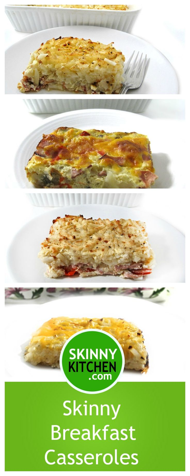 Skinny Breakfast Casseroles for the Holidays. Are you wanting to make something really yummy and easy for breakfast/brunch this holiday weekend? Check out these 4 fantastic casseroles. http://www.skinnykitchen.com/recipes/skinny-breakfast-casseroles-for-the-holidays/