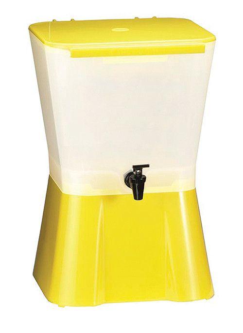 Tablecraft 955 3 Gallon Beverage Dispenser Yellow White