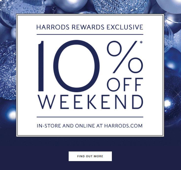 Exclusive 10% off Harrods coming soon