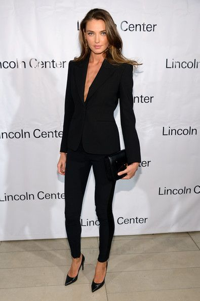 in an elegant black suit. You can't beat a black suit for a sophisticated  look