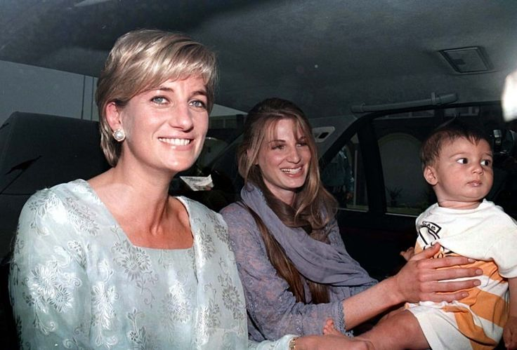 Diana, Princess of Wales arrives in Lahore, Pakistan with Jemima Kahn and her son Suliaman to officially open the Shaukat Khanum Cancer Hospital founded by Imran Kahn. 1997. by Stefan Rousseau