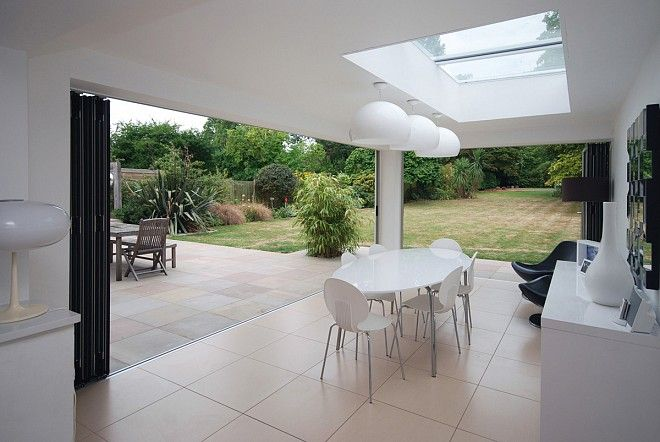 Extension Bi Folding Doors For A Kitchen Dining Room Using