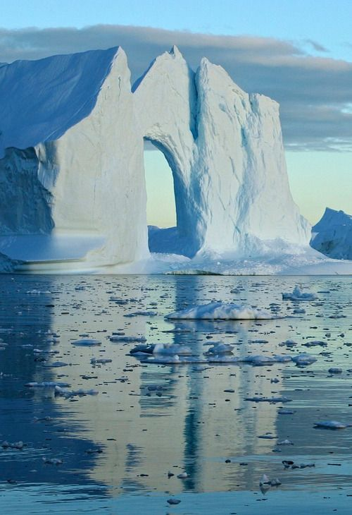 Mouth of Ilulissat Icefjord- Greenland.