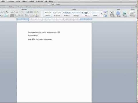 _How to hyperlink to an anchor point in a document