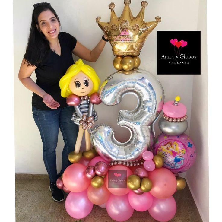 Balloonsbouquet princess para sorprender y llenar de alegría
