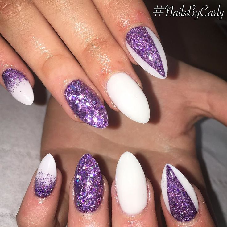 #nailsbycarly #nofilter #notpolish #allacrylic #purplenails #glitternails #glitterfade #whitenails #almondnails #naildesigns #instanails #nailsofinstagram #nailswag #nailstyle #nailie #nailart #sculpturednails #scra2ch #naglar #nails2inspire #nailswag #nailstagram #nailsoftheday #nailedit #nailfie #nailartaddict #nailtech #nailsdid #naillove by nailsbycarlyreilly