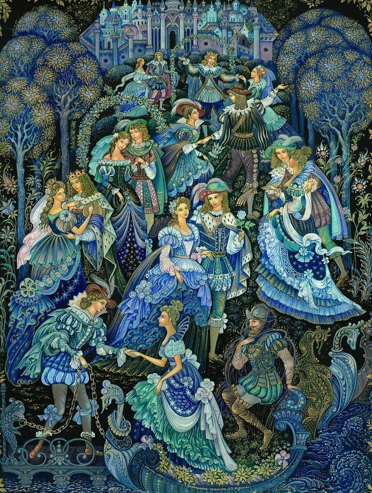 The Worn-Out Dancing Shoes from Palekh by Vera Smirnova