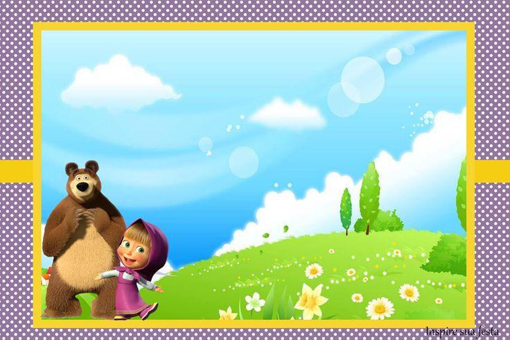 Convite 10x15 cm http://inspiresuafesta.com/masha-e-o-urso-personalizados-gratuitos/