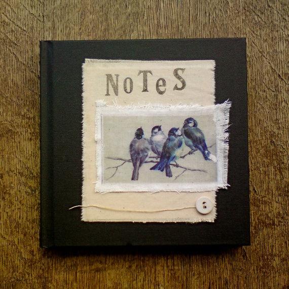 Birds on branch notebook
