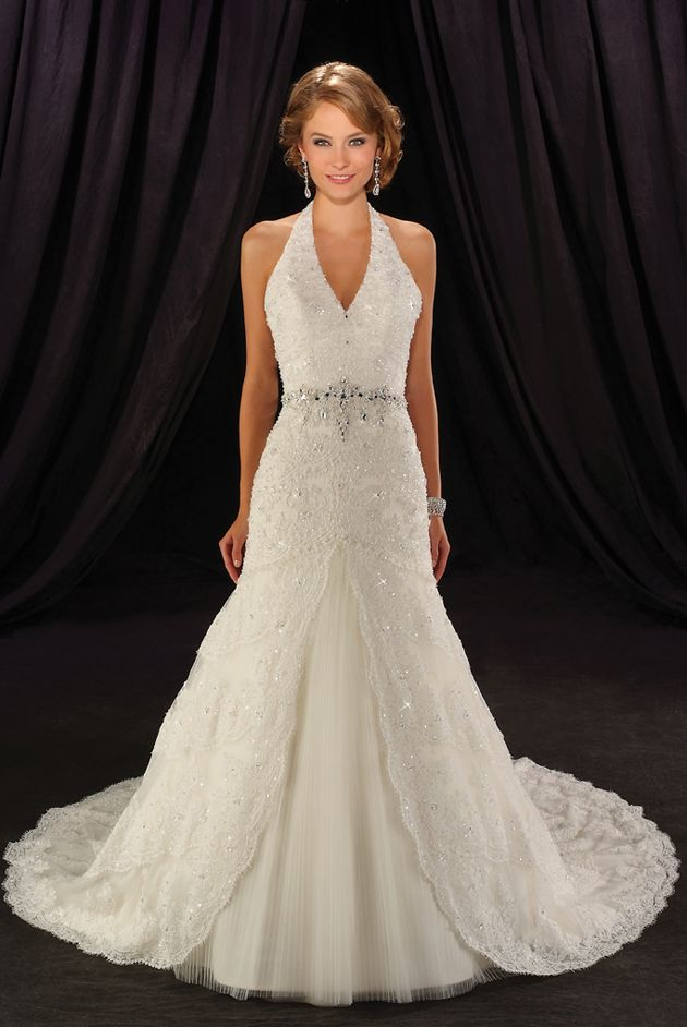 25 best ideas about halter wedding dresses on pinterest for Wedding dress neckline styles