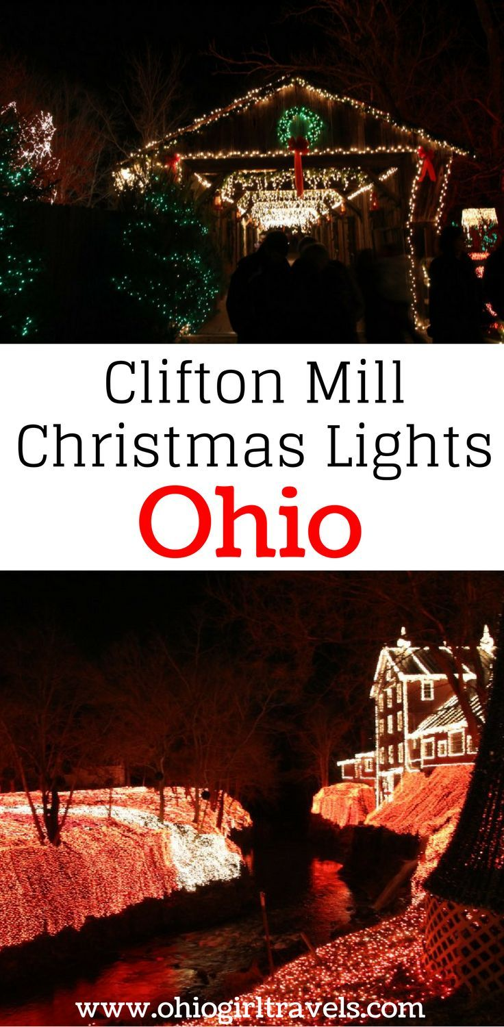If you're looking for somewhere to see Christmas lights near Columbus, Ohio, you have to check out the Clifton Mill Christmas lights. They feature millions of lights, a light show, and music playing as you walk through the display. It is perfect for people of all ages or for a romantic winter date night. Make sure you save these Christmas lights in Ohio to your Christmas board so you can find them later. USA Travel.