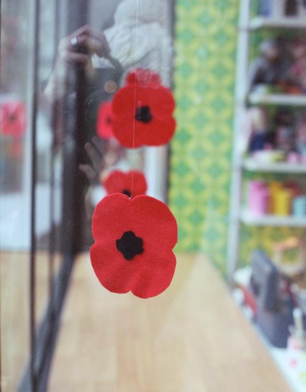 poppies.  veterans day