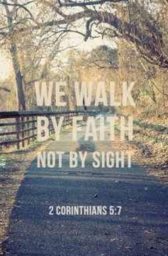 Vivimos por fe, no por vista. (2 Coríntios 5:7 NVI)