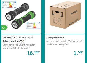 Lidl: Werkzeug-Spezial mit Arbeitshosen, Umzugskartons und Bohrersätzen https://www.discountfan.de/artikel/technik_und_haushalt/lidl-werkzeug-spezial-mit-arbeitshosen-umzugskartons-und-bohrersaetzen.php Tool-Time bei Lidl: Der Discounter hat ein neues Werkezeug-Spezial gestartet. Im Online-Shop gibt es die Geräte und Umzugskartons zu Schnäppchenpreisen ab sofort, im Discounter vor Ort erst ab dem 14. Juni 2017. Lidl: Werkzeug-Spezial mit Arbeitshosen, Umzugskartons und B