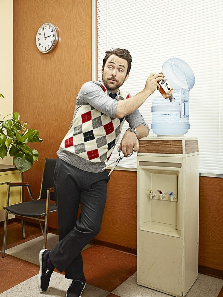 Charlie Day from FX's It's Always Sunny In Philadelphia pulls some silly pranks for Zachary Scott's shoot.