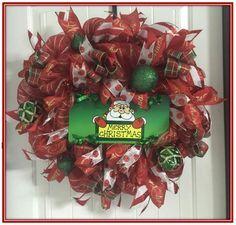 """Merry Christmas Santa 24"""" Wreath"""