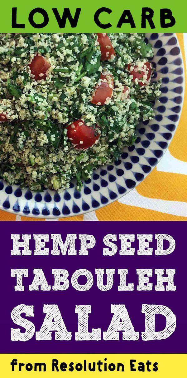 Low Carb Keto Paleo Whole30 Hemp Seed Tabouleh Recipe Hemp Seed Recipes Hemp Seeds Keto