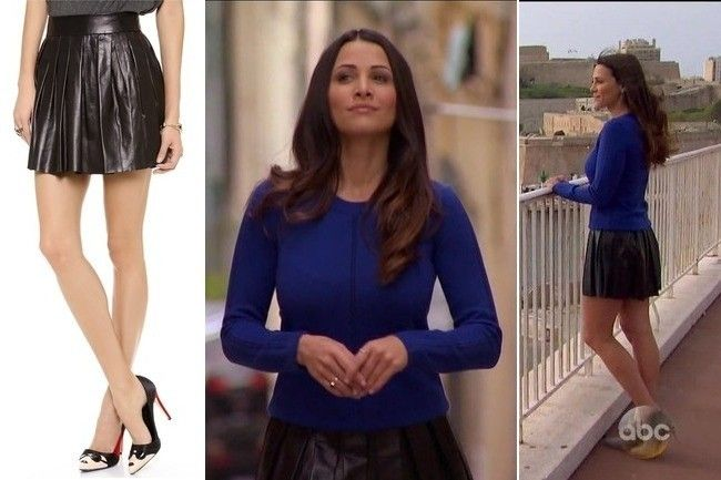 Andi Dorfman's Black Pleated Leather Skirt on 'The Bachelorette' - TV Fashion Roundup: June 16, 2014 - Photos