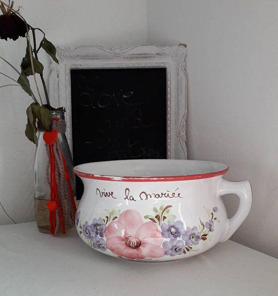 Old Chamber Pot Indiscreet Eye White Ceramic Chamber Pot White Ceramics Vintage Objects Wedding Gifts
