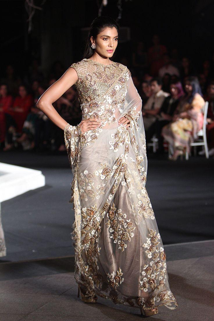By Manish Malhotra. Bridelan - Personal shopper & style consultants for Indian/NRI weddings, website www.bridelan.com #Bridelan #weddinglehenga #ManishMalhotra #LakmeFashionWeekWinterFestive2016