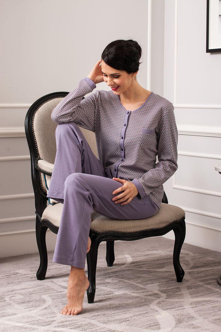 #dusty pastel mallow pijama. Romantic style sleepwear. Fall/Winter 2017/18 woman collection.