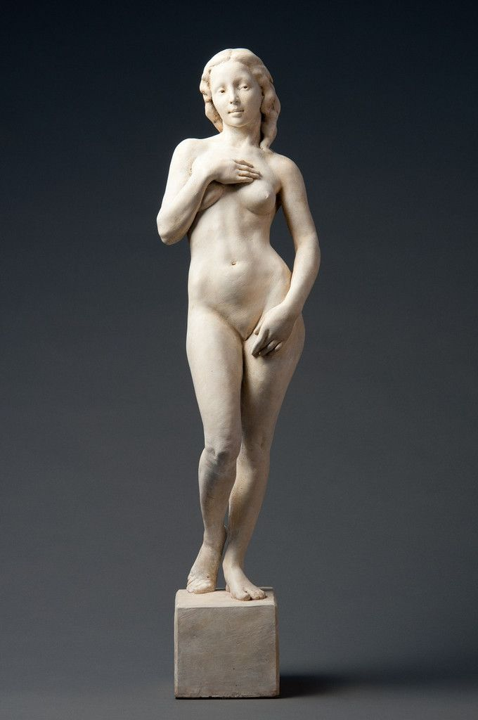 """""""After Boticelli"""" by Deon Duncan. 29"""" Hydrostone. Bronze medal winner at 2011 National Sculpture Society competition. Click through to learn more about this contemporary response to Botticelli's """"The Birth of Venus""""."""