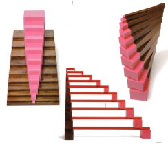 The Pink Tower Brown Stairs and Red Rods are amongst the most popular Montessori materials This set of 82 durable large A4-size cards encourages